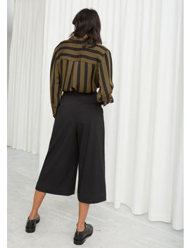 High Waisted Twill Culottes by & Other Stories