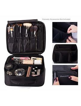 Rownyeon Portable Travel Makeup Bag Makeup Case Mini Makeup Train Case 9.8'' (White Edge) by Rownyeon