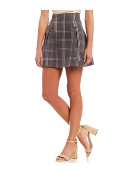 Plaid Mini Skirt by Copper Key