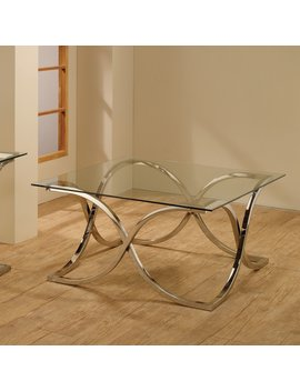 Coaster Furniture Glass Top Coffee Table   Chrome by Coaster Furniture