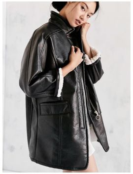 Urban Outfitters Vegan Leather Coat by Ebay Seller