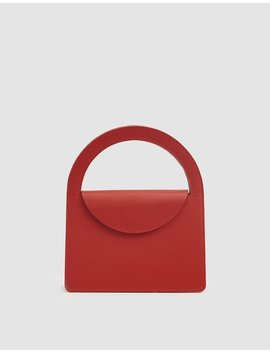 Lady Leather Purse In Tomato by Building Block