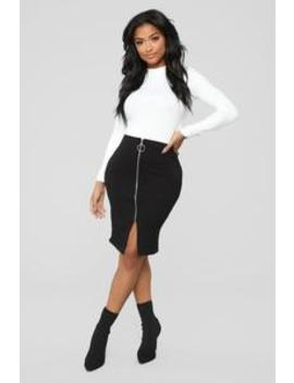 Oh Yes Indeed Skirt   Black by Fashion Nova