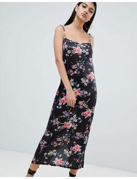 Vestido Camisola Largo Con Estampado Floral De Asos Design by Asos
