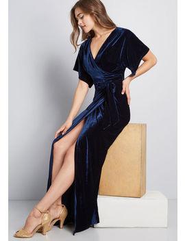 Collectif X Mc Silver Screening Velvet Maxi Dress by Collectif