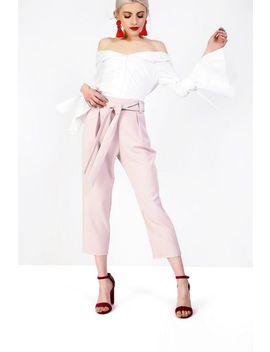 **Button Bardot Blouse By Glamorous by Topshop