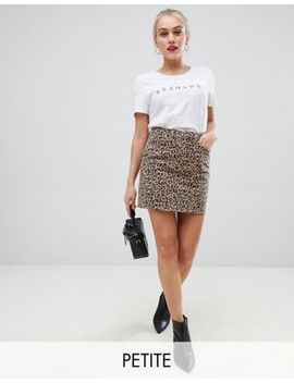 New Look Petite Mom Skirt In Leopard Print by New Look Petite