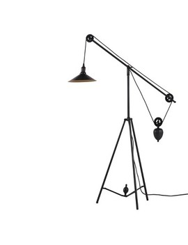 "Industrial Synchronized Pulley 48"" Floor Lamp   Zm Home by Zm Home"