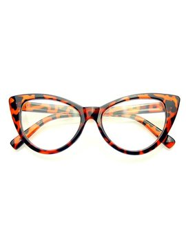 Emblem Eyewear   Super Cat Eye Glasses Vintage Inspired Fashion Mod Clear Lens Eyewear (Tortoise) by Emblem Eyewear