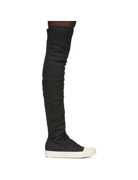 Black Stocking Sneakers by Rick Owens Drkshdw
