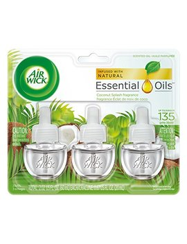 Air Wick Scented Oil 3 Refills, Coconut Splash, (3 X0.67oz), Air Freshener by Air Wick