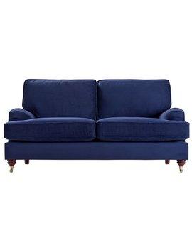 Argos Home Abberton 3 Seater Fabric Sofa   Navy by Argos