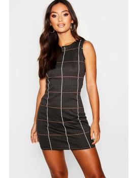 Petite Tartan Mini Dress by Boohoo