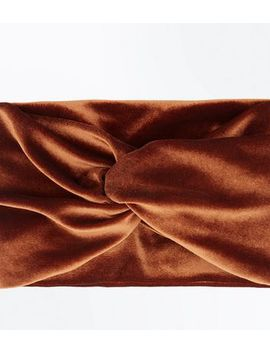 Rust Velvet Headband by New Look