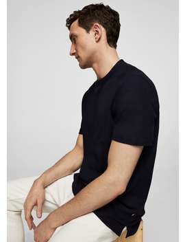 Cotton Piqué T Shirt by Mango