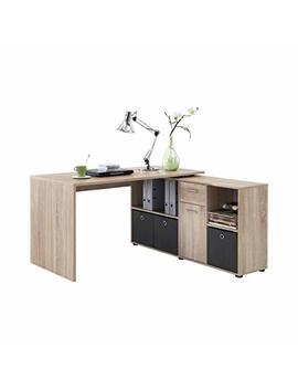 Fmd Möbel 353 001 Schreibtisch Winkelkombination Tisch Ca. 136 X 75 X 68 Cm, Regal Ca. 137 X 71 X 33 Cm by Amazon