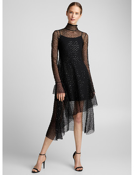 Voile And Sequin Asymmetric Dress by Hildur Yeoman