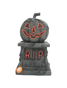 17'' Halloween Pumpkin Tombstone Gray   Hyde And Eek! Boutique ™ by Hyde And Eek! Boutique™