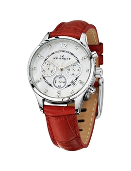 Ladies Kennett Lady Savro Chronograph Watch Lwsavwhsilrd by Kennett