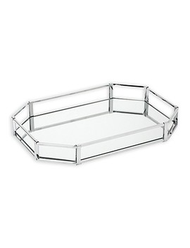 Home Details Large Octagonal Chrome Vanity Mirror Tray In Chrome by Bed Bath And Beyond