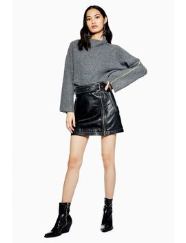 Super Soft Cropped Roll Neck Jumper by Topshop
