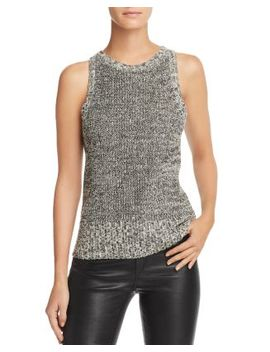 Marled Cutout Back Tank by Theory