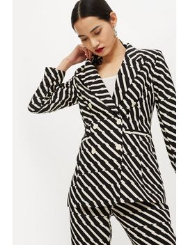 Zig Zag Double Breasted Jacket by Topshop