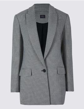 Checked Long Sleeve Blazer by Standard Tracked:
