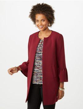 Jones Studio® Bell Sleeve Long Blazer by Dressbarn