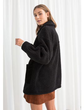 Faux Shearling Workwear Jacket by & Other Stories