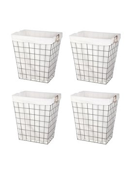Better Homes And Garden Rectangle Wire Laundry Hamper With Liner, 4 Pack by Better Homes & Gardens