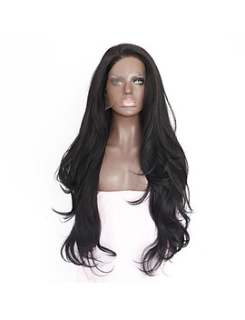 Synthetic Lace Front Wig Straight Synthetic Hair Heat Resistant / Natural Hairline Black Wig Women's Medium Length / Long Lace Front Natural Black  #05626550 by Lightinthebox