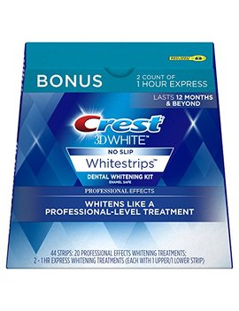 Crest 3 D White Professional Effects Whitestrips Whitening Strips Kit, 22 Treatments, 20 Professional Effects... by Crest