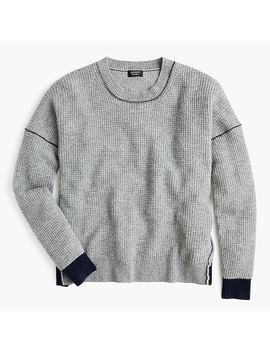 Swing Sweater In Waffle Knit Everyday Cashmere by J.Crew