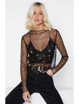 In Your Stars Mesh Top by Nasty Gal