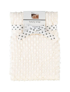 Cream Bubble Blanket 75x100cm by Pitter Patter