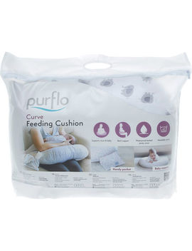 White Elephant Print Feeding Cushion by Purflo