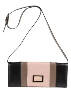 Color Blocked Black Blush Soft Leather Shoulder Bag by Valentino