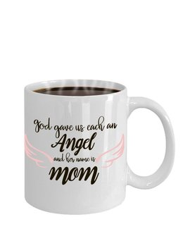 Mug For Mother, Gift For Mom, Coffee Lover, Coffee Mug, Angel Mug, Coffee Mug For Mom, Fathers Day, Mom Everyday Gift, Mom Birthday Gift by Etsy