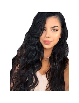 Synthetic Wig / Synthetic Lace Front Wig Curly Layered Haircut Synthetic Hair With Baby Hair / Soft / Heat Resistant Black Wig Women's Long Lace Front Natural Black / African American Wig / Yes  #06771365 by Lightinthebox