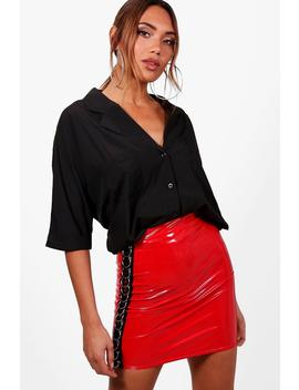 Revere Collar Oversized Shirt by Boohoo