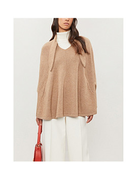 Necktie Wool And Cashmere Blend Poncho by Co