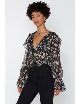 Grow Big Floral Blouse by Nasty Gal