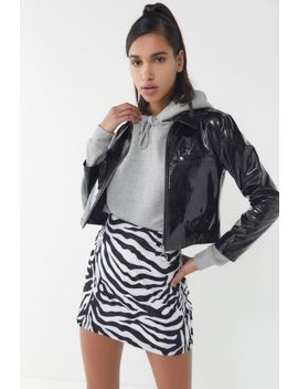 Uo Zebra Print Fleece Mini Skirt by Urban Outfitters