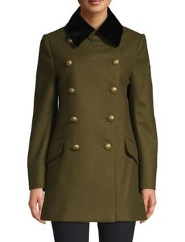 Kelson Double Breasted Military Wool Coat by Burberry
