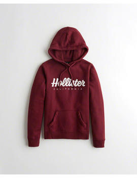 Script Logo Graphic Hoodie by Hollister