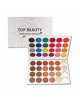 Top Beauty 48 Colors Glitter Matte Eyeshadow Palette Charming Metallic Eye Shadow Palette Waterproof Shimmer Eye Shadow Cosmetic Palette Professional Make Up Palette Cosmetics Makeup Eye Shadow by Top Beauty