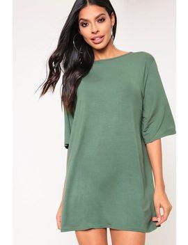 Khaki Oversized T Shirt Dress by I Saw It First