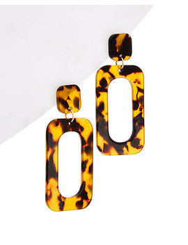 Ten79 La Plated Lucite Statement Earrings by Ten79 La