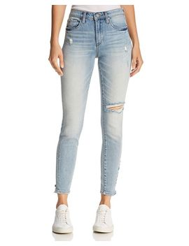 Distressed Skinny Jeans In Constant Convo by Blanknyc